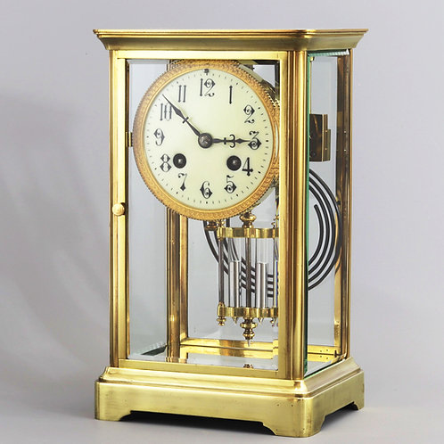 19th Century French Four Glass Striking Mantle Clock c.1890