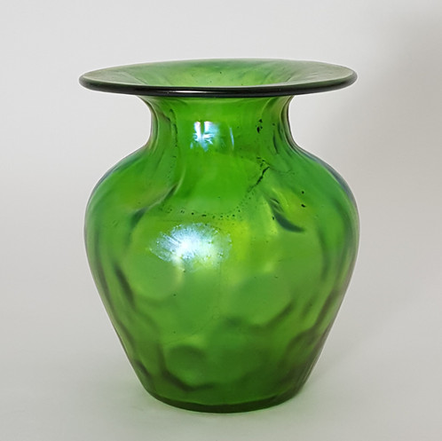 Loetz Iridescent Glass Vase In Crete Rusticana C1900