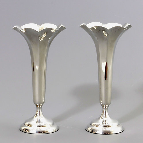 Pair of Silver Bud Vases by Horace Woodward London 1906
