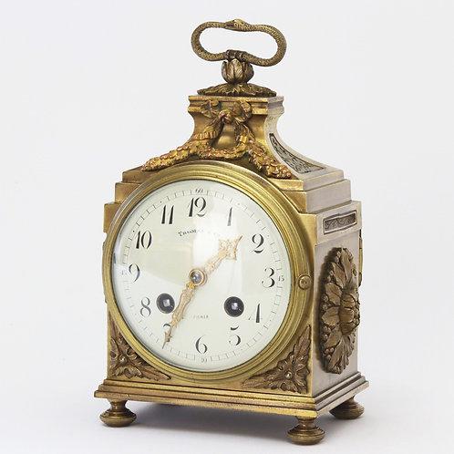 French Gilt Brass Pendule d'Officier c1890