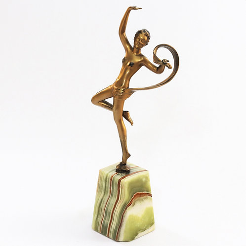 Gilt Spelter Figure of a Scarf Dancer c1930s