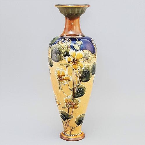 Tall Royal Doulton Slaters Stoneware Vase c1910