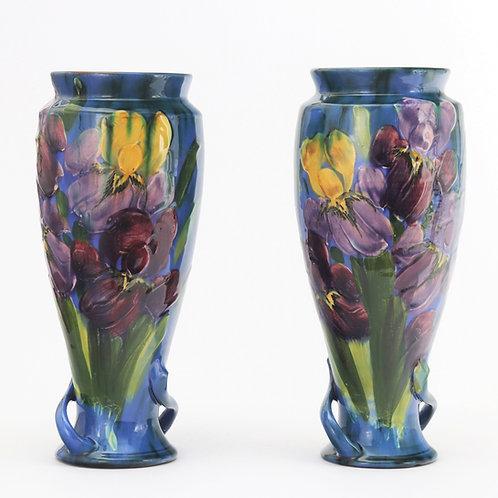 Torquay Pottery Pair of Vases by Lemon & Crute c1920