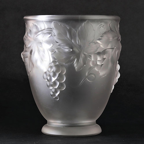Etling Art Deco Frosted Glass Vase c1920s