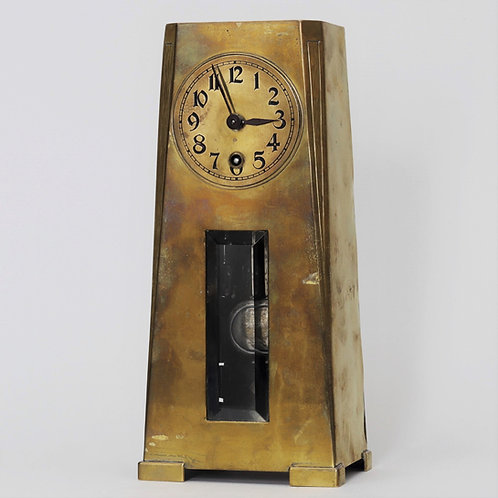 Jugendstil Mantel Clock by the Hamburg American Clock Company c1895