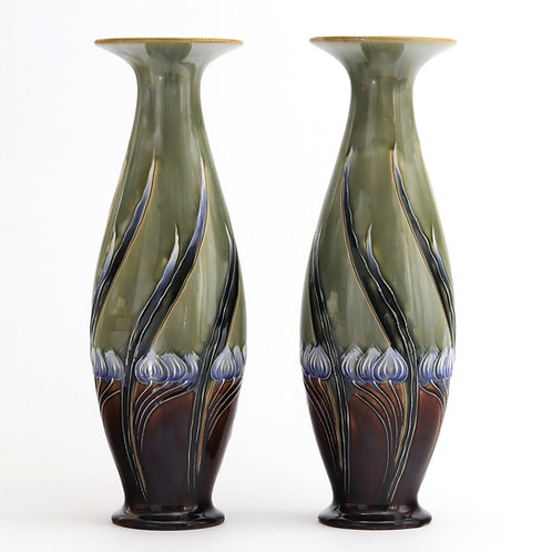 Pair of Royal Doulton Secessionist Vases by Eliza Simmance