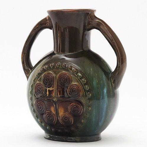 Christopher Dresser for Linthorpe Aztec Inspired Vase c1880