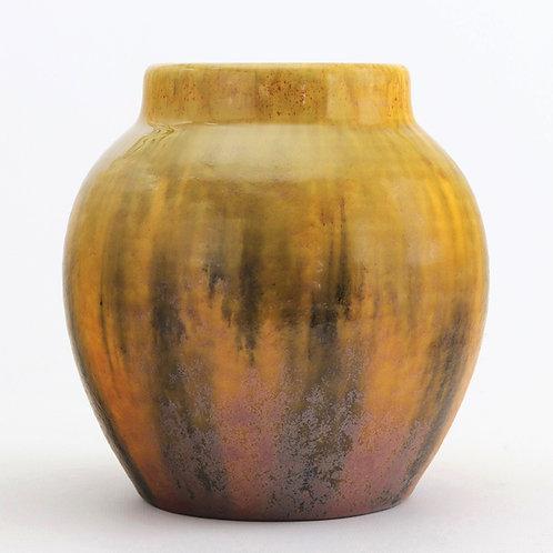 Gladys Rodgers for Royal Lancastrian Streaky Yellow Vase