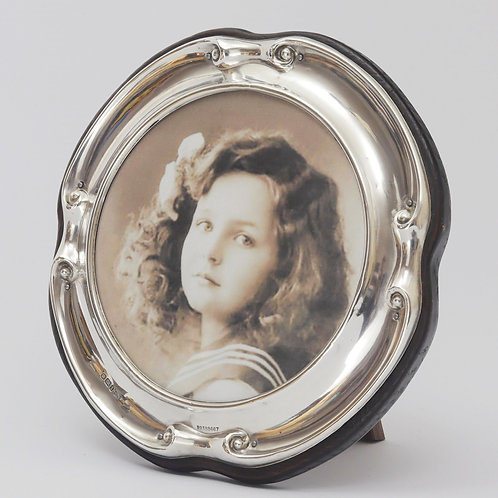 Art Nouveau Circular Silver Photo Frame by Walker & Hall, Sheffield 1911