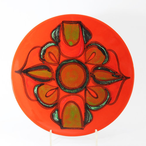 Poole Pottery Delphis Charger by Cynthia Bennett c1970's
