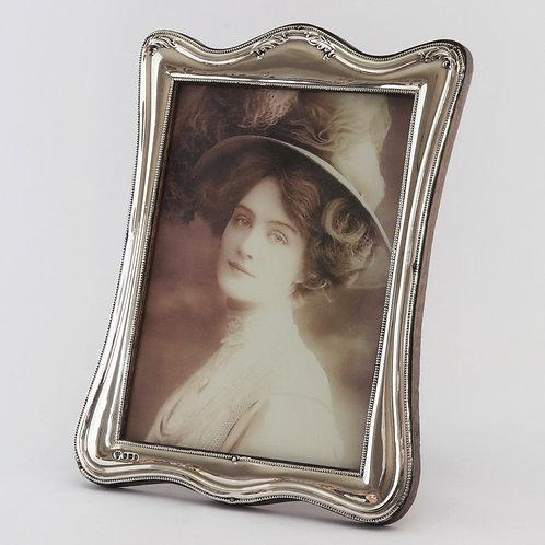 Large Silver Art Nouveau Shaped Photo Frame by Charles Boyton & Sons 1916