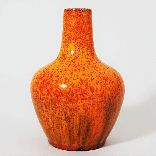 Pilkington's Royal Lancastrian Orange Vermilion Art Vase c.1920