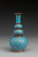Minton Persian-style vase by Christopher