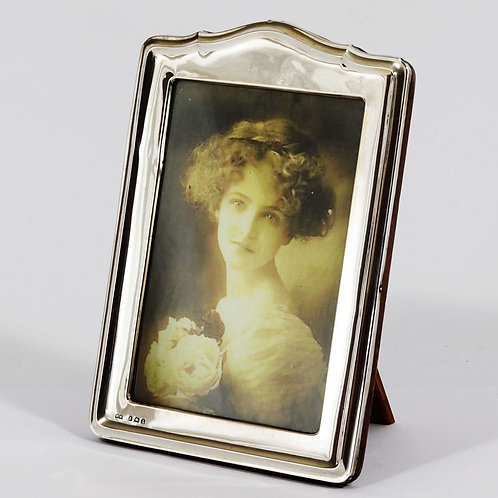 Silver Arch Shaped Photo Frame by Henry Matthews Birmingham 1924