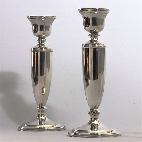 Pair of Silver Candlesticks by Northern Goldsmiths Co Birmingham 1927