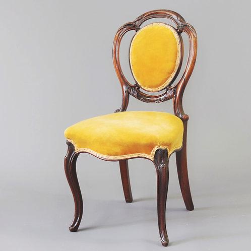 Victorian Rosewood Salon Chair c1850