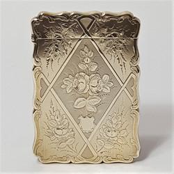 Engraved Silver Card Case