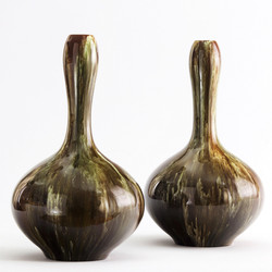 Linthorpe Pottery Bottle Vases