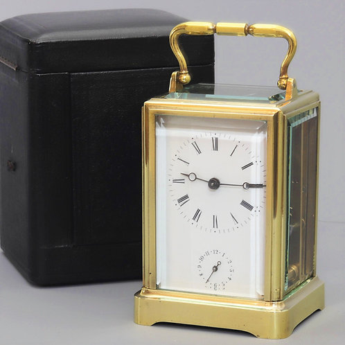 Early One Piece Case Alarm Carriage Clock With Travel Case