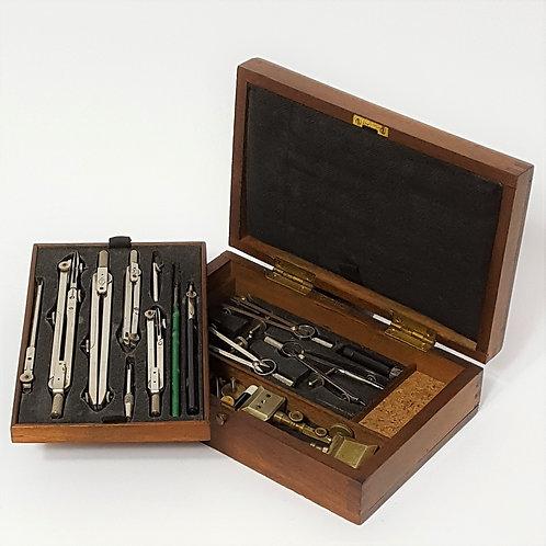 Mahogany Boxed Drawing Instruments