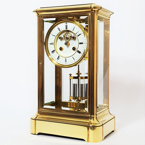 Large Four Glass Crystal Regulator with Exposed Escapement c.1880