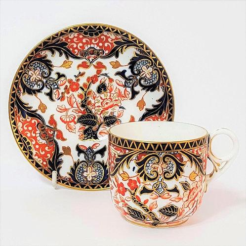 Royal Crown Derby Imari Coffee Cup & Saucer c1885