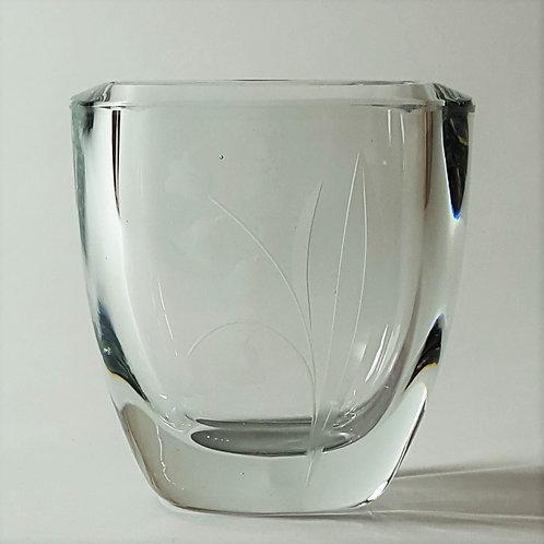 Small Stromberg Strombergshyttan Art Glass Vase B382 c1950s