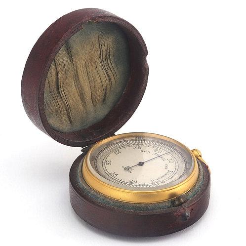 Compensated Pocket Barometer Altimeter by MTC London c1880