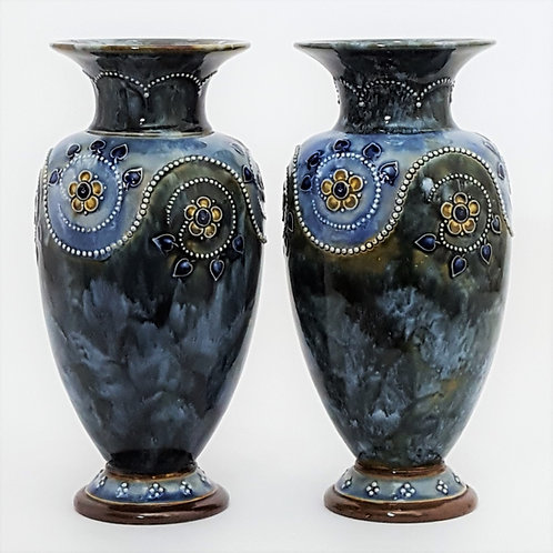 Doulton Lambeth Stoneware Vases