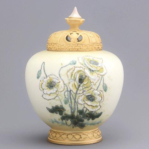 Alexandria Porcelain Works Royal Vienna Large Potpourri Jar c1905