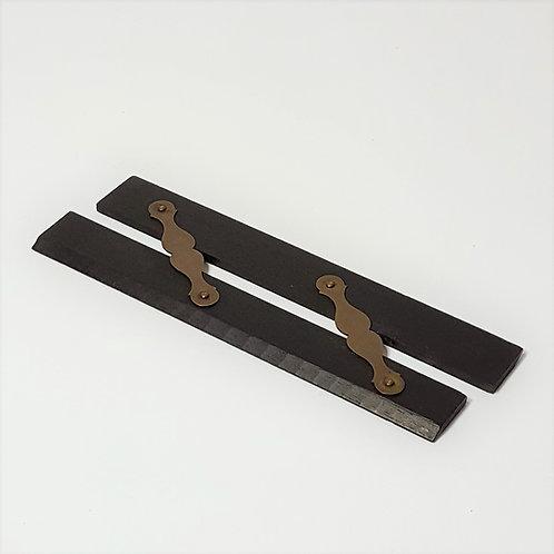 Ebony & Brass Parallel Rule (14.5cm)