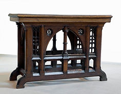 oak altar table from a church in Bolling