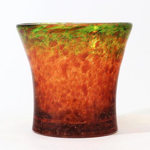 Monart Waisted Glass Vase With Aventurine c1935