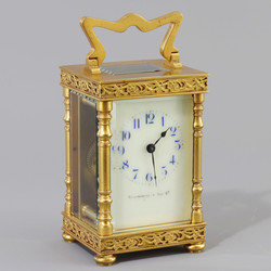 Gilt Carriage Clock