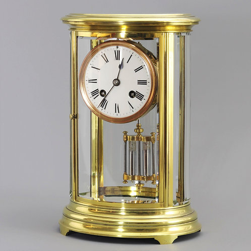 Oval Four Glass Striking Mantle Clock by Richard et Cie