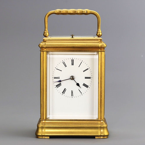 Gilt Brass Gorge Cased Repeat Carriage Clock c1885