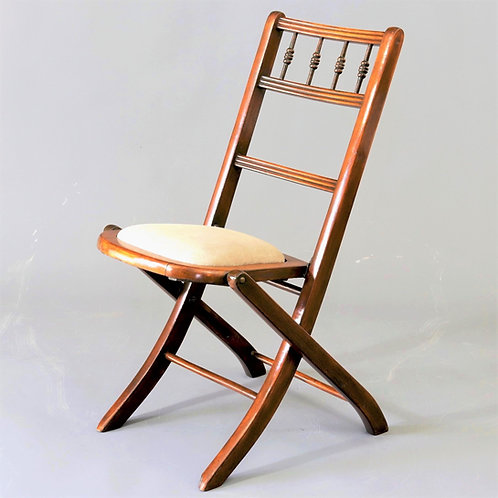 Antique Edwardian Folding Chair c1905