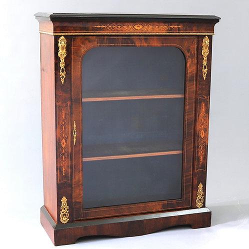 Victorian Burr Walnut Pier Cabinet c1860