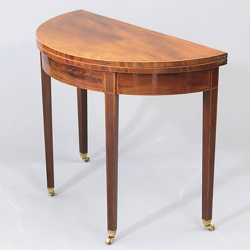 George III Demi-Lune Tea Table c1800