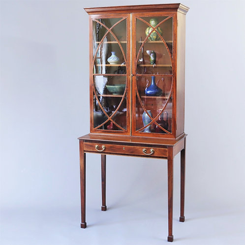 Late 18th Century Mahogany Glazed Display Cabinet on Stand