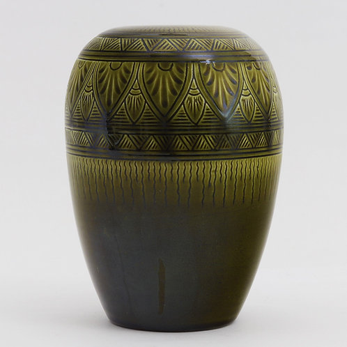 Christopher Dresser Linthorpe Pottery Decorated Vase by Henry Tooth c1880