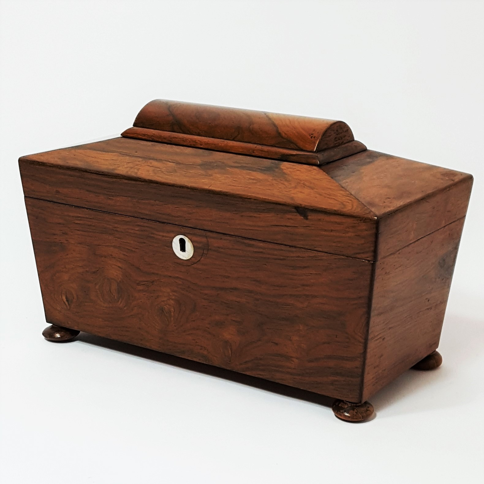 Rosewood Tea Caddy c1840