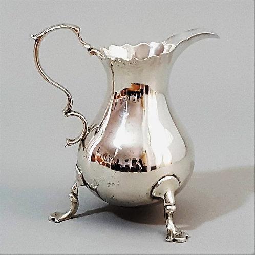 George II Pear Shaped Silver Cream Jug 1749
