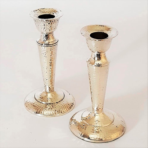 Antique Arts and Crafts Solid Silver Candlesticks 1908