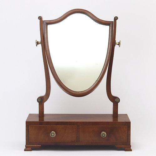 Antique Shield Shape Ladies Toilet Mirror front view