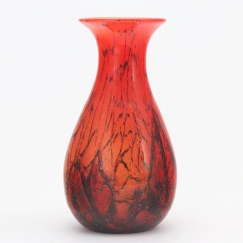 Large WMF Ikora Glass Vase by Karl Weidmann c1935