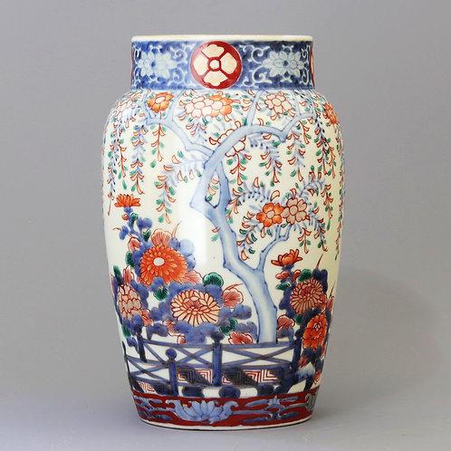 Japanese Imari Weeping Cherry Blossom Vase c1870