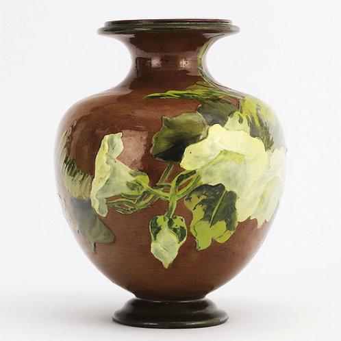 Doulton Lambeth Impasto Stoneware Ovoid Vase by Rosa Keen 1887