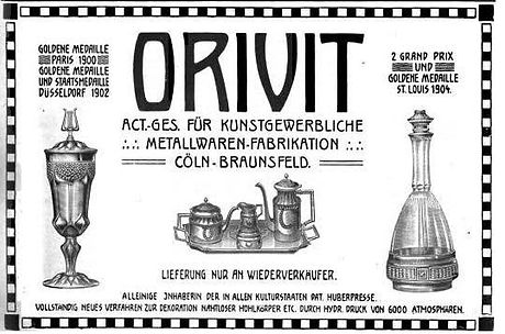 Orivit advertisement highlighting awards won 1900, 1902 and 1904.