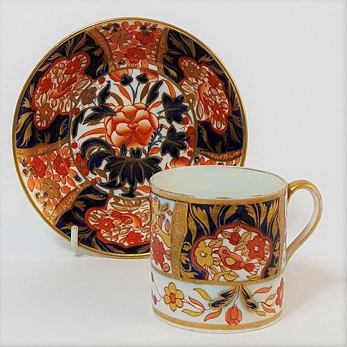 Spode Imari Coffee Cup and Saucer c1820